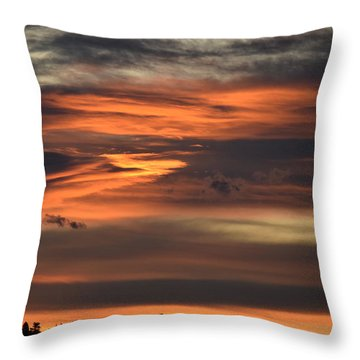 Throw Pillow featuring the photograph Clouds At Dawn Over Ridge by Margarethe Binkley
