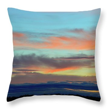 Clouds At Different Altitudes  Throw Pillow