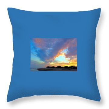 Clouds At Sunset Throw Pillow by Betty Buller Whitehead