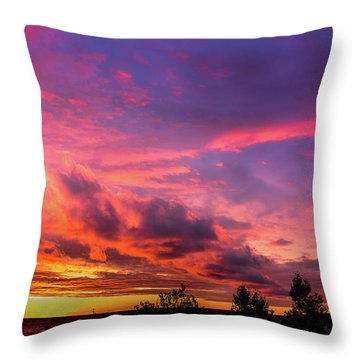 Clouds At Sunset Throw Pillow