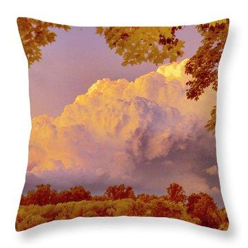 Clouds At Sunset, Southeastern Pennsylvania Throw Pillow
