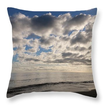 Throw Pillow featuring the photograph Clouds At The Beach - 2 by Christy Pooschke