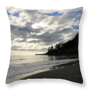 Throw Pillow featuring the photograph Clouds At The Beach  by Christy Pooschke