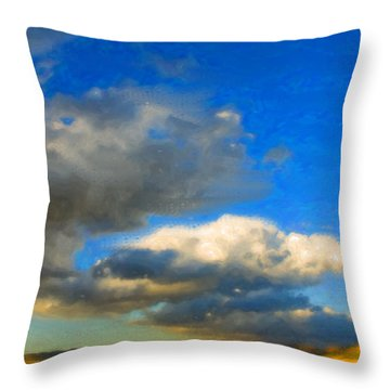 Clouds Throw Pillow by Betty LaRue