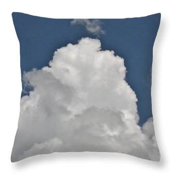 Throw Pillow featuring the photograph Clouds by Carol  Bradley