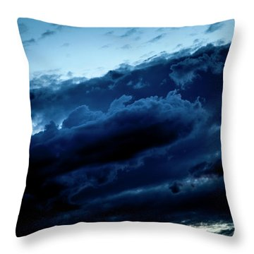 Throw Pillow featuring the photograph Clouds Fall by Eric Christopher Jackson
