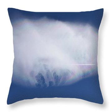 Throw Pillow featuring the photograph Clouds From Home by Margarethe Binkley