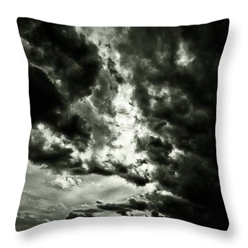 Throw Pillow featuring the photograph Clouds by Gary Bridger