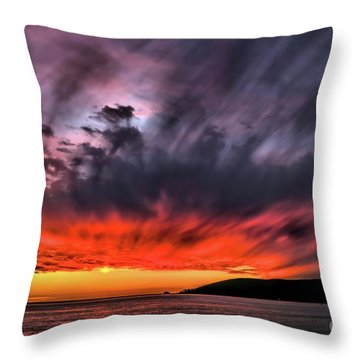Clouds In Motion Before The Storm Throw Pillow by Vivian Krug Cotton