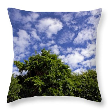 Clouds In My Sky Throw Pillow by Allan  Hughes
