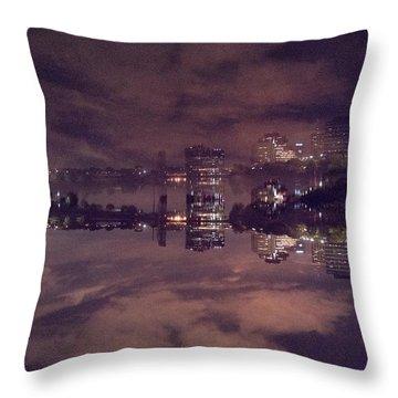 Clouds In The Passaic - Newark Nj Throw Pillow