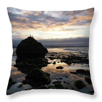 Throw Pillow featuring the photograph Clouds In The Sea by Lora Lee Chapman