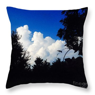 Clouds Throw Pillow by Karen Newell