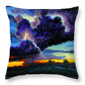 Clouds Number Six Throw Pillow by John Lautermilch