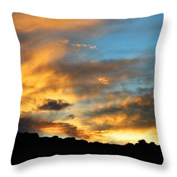 Clouds Of Liquid Gold Throw Pillow