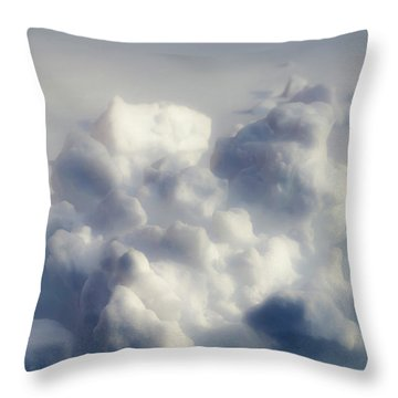 Clouds Of Snow Throw Pillow