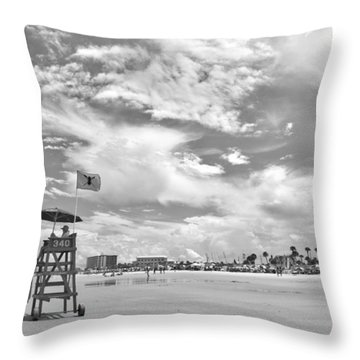 Clouds On The Beach Throw Pillow