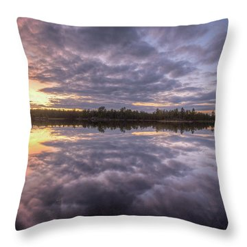 Throw Pillow featuring the photograph Kawishiwi River Sunset Refletion, Boundayt Watery Minnesota by Paul Schultz