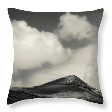 Clouds Over Ben More Throw Pillow