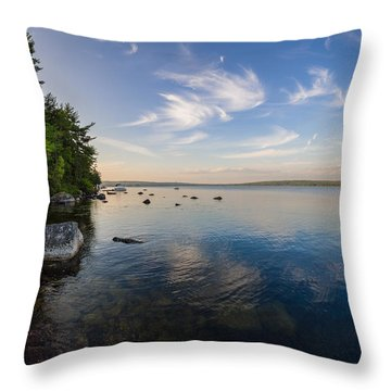 Clouds Over Branch Lake Throw Pillow
