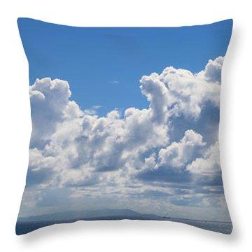 Clouds Over Catalina Island - Panorama Throw Pillow
