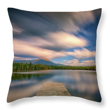 Clouds Over Daicey Pond Throw Pillow