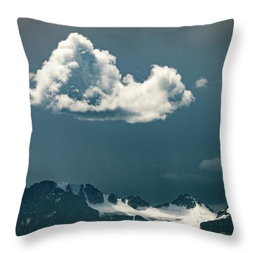 Throw Pillow featuring the photograph Clouds Over Glacier, Banff Np by William Lee