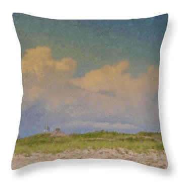 Clouds Over Goosewing Throw Pillow