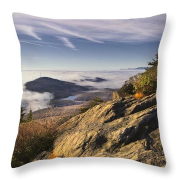 Clouds Over Grandmother Mountain Throw Pillow