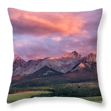 Clouds Over Hayden At Sunset Throw Pillow