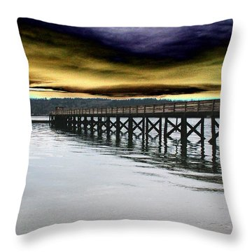 Clouds Over Illahee Throw Pillow