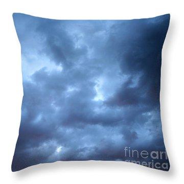 Clouds Over Kansas Throw Pillow