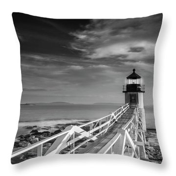Throw Pillow featuring the photograph Clouds Over Marshall Point Lighthouse In Maine by Ranjay Mitra