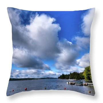 Throw Pillow featuring the photograph Clouds Over Palmer Point by David Patterson