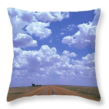 Clouds Over Prairie Amarillo Tx Throw Pillow