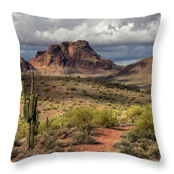 Clouds Over Red Mountain Throw Pillow