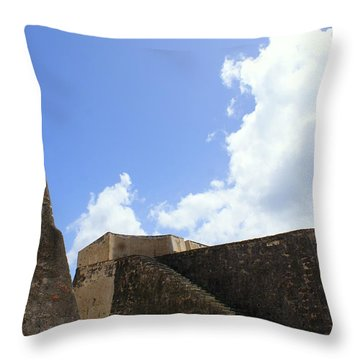 Clouds Over San Cristobal Throw Pillow by Lois Lepisto