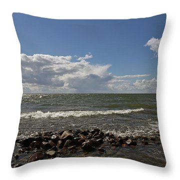 Clouds Over Sea Throw Pillow