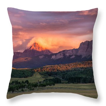 Clouds Over Sneffels At Sunset Throw Pillow