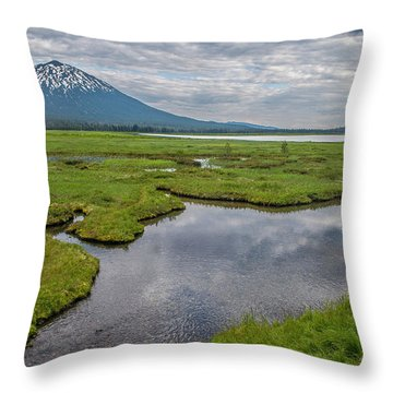 Clouds Over Sparks Throw Pillow