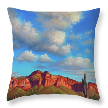 Clouds Over Superstitions Throw Pillow