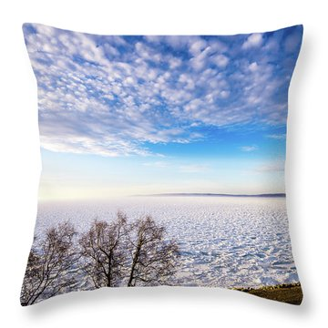 Clouds Over The Bay Throw Pillow by Onyonet  Photo Studios