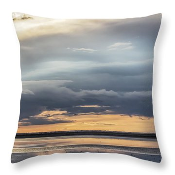 Clouds Over The Bottoms Throw Pillow
