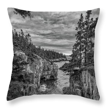 Clouds Over The Cliffs Throw Pillow