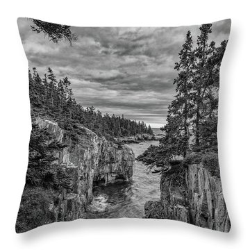 Clouds Over The Cliffs Throw Pillow