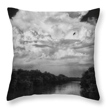 Clouds Over The Coosa River Throw Pillow