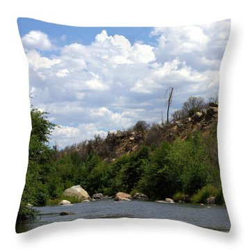 Clouds Over The Kern Throw Pillow