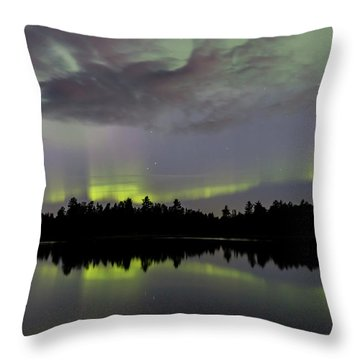 Clouds Over The Lights Throw Pillow