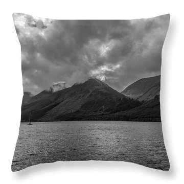 Clouds Over Loch Lochy, Scotland Throw Pillow