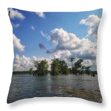 Clouds Over The Louisiana Bayou Throw Pillow